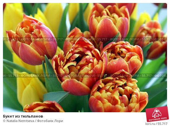 Букет из тюльпанов, эксклюзивное фото № 55717, снято 9 апреля 2007 г. (c) Natalia Nemtseva / Фотобанк Лори