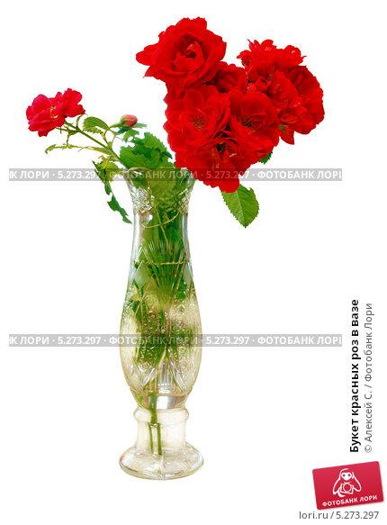 Букет красных роз в вазе. Стоковое фото, фотограф Алексей C. / Фотобанк Лори