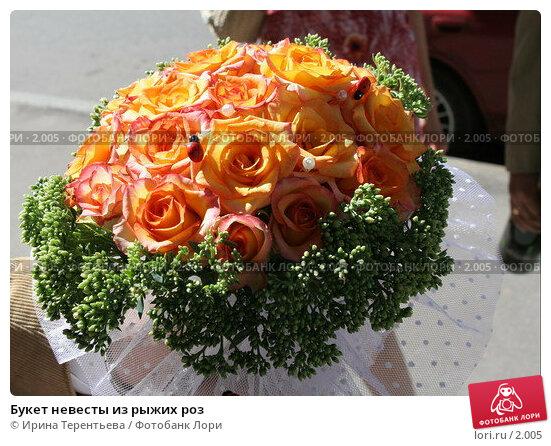 Букет невесты из рыжих роз, эксклюзивное фото № 2005, снято 20 августа 2005 г. (c) Ирина Терентьева / Фотобанк Лори