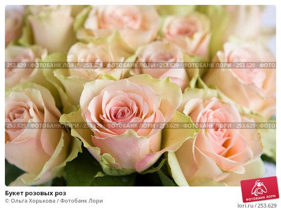 Купить «Букет розовых роз», фото № 253629, снято 8 марта 2008 г. (c) Ольга Хорькова / Фотобанк Лори