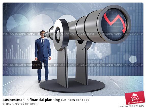 Купить «Businessman in financial planning business concept», фото № 28728045, снято 18 февраля 2019 г. (c) Elnur / Фотобанк Лори