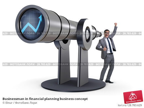 Купить «Businessman in financial planning business concept», фото № 28783629, снято 19 февраля 2019 г. (c) Elnur / Фотобанк Лори