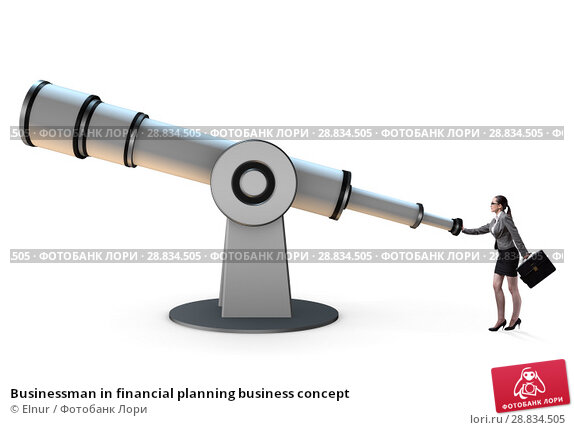 Купить «Businessman in financial planning business concept», фото № 28834505, снято 21 февраля 2019 г. (c) Elnur / Фотобанк Лори