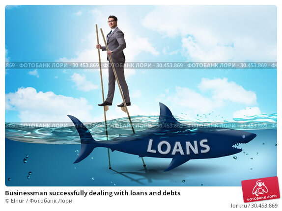 Businessman successfully dealing with loans and debts. Стоковое фото, фотограф Elnur / Фотобанк Лори