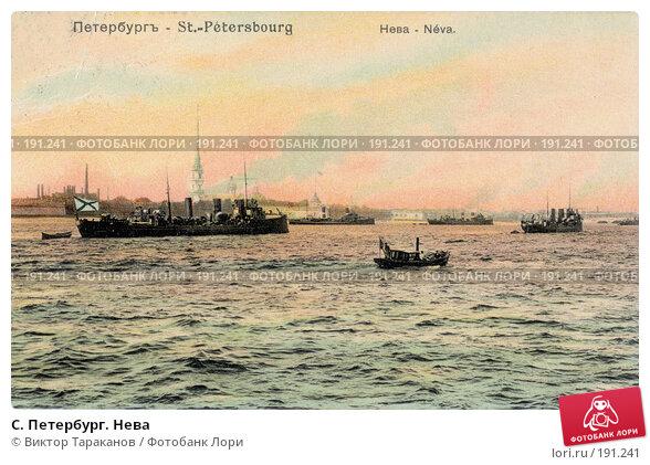 Купить «C. Петербург. Нева», фото № 191241, снято 21 ноября 2017 г. (c) Виктор Тараканов / Фотобанк Лори