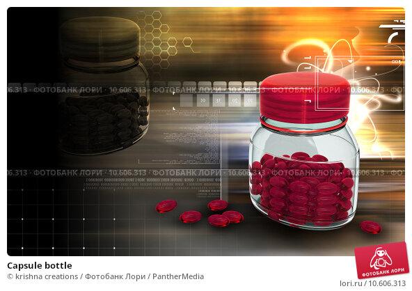 Capsule bottle. Стоковое фото, фотограф krishna creations / PantherMedia / Фотобанк Лори
