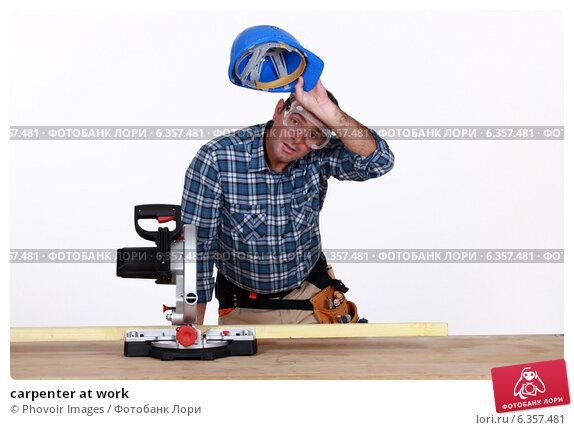 Купить «carpenter at work», фото № 6357481, снято 6 июня 2011 г. (c) Phovoir Images / Фотобанк Лори