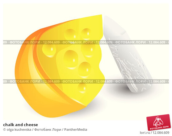 Купить «chalk and cheese», иллюстрация № 12084609 (c) PantherMedia / Фотобанк Лори
