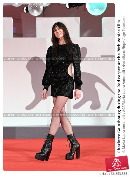 Charlotte Gainsbourg during the Red carpet at the 78th Venice Film... Редакционное фото, фотограф Maria Laura Antonelli / AGF/Maria Laura Antonelli / age Fotostock / Фотобанк Лори