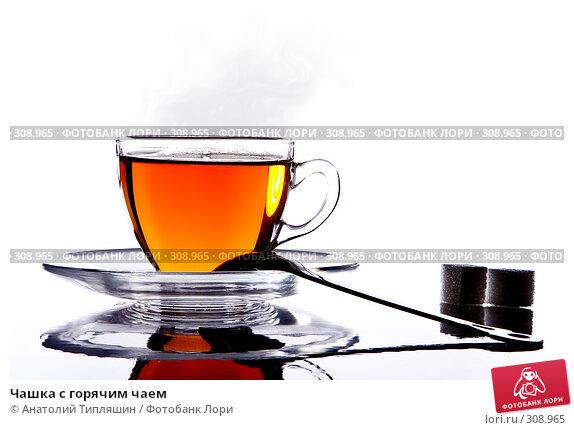 Купить «Чашка с горячим чаем», фото № 308965, снято 28 февраля 2007 г. (c) Анатолий Типляшин / Фотобанк Лори