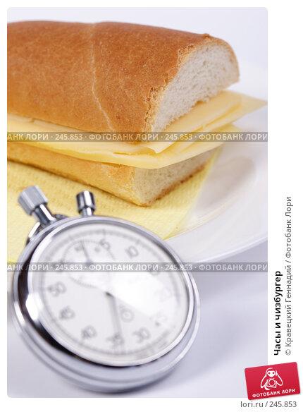 Часы и чизбургер, фото № 245853, снято 10 ноября 2004 г. (c) Кравецкий Геннадий / Фотобанк Лори
