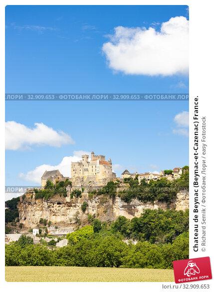 Chateau de Beynac (Beynac-et-Cazenac) France. Стоковое фото, фотограф Richard Semik / easy Fotostock / Фотобанк Лори