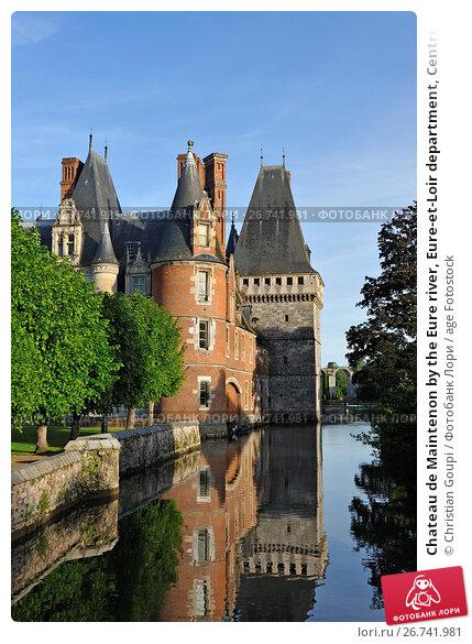Chateau de Maintenon by the Eure river, Eure-et-Loir department, Centre-Val de Loire region, France, Europe. Стоковое фото, фотограф Christian Goupi / age Fotostock / Фотобанк Лори