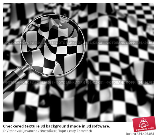 Checkered texture 3d background made in 3d software. Стоковое фото, фотограф Vitanovski Jovanche / easy Fotostock / Фотобанк Лори