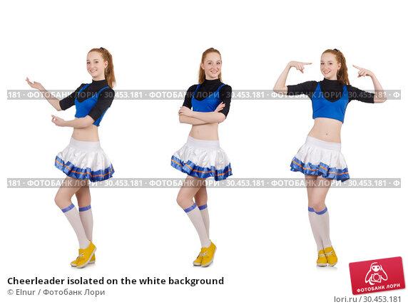 Cheerleader isolated on the white background. Стоковое фото, фотограф Elnur / Фотобанк Лори