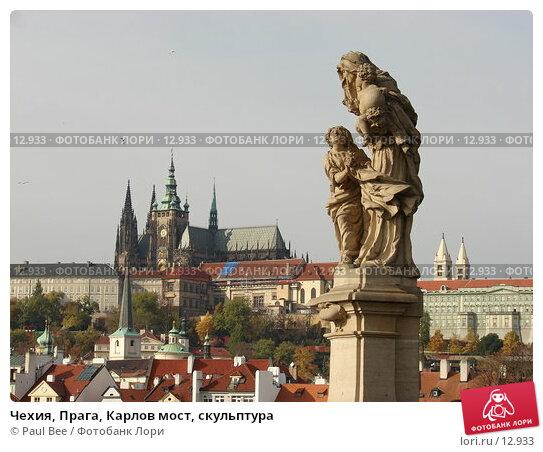 Чехия, Прага, Карлов мост, скульптура , фото № 12933, снято 10 февраля 2006 г. (c) Paul Bee / Фотобанк Лори