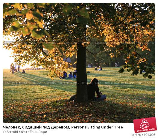 Человек, Сидящий под Деревом, Persons Sitting under Tree, фото № 101005, снято 23 сентября 2007 г. (c) Astroid / Фотобанк Лори