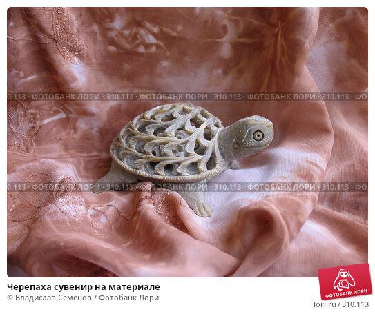 Черепаха сувенир на материале, фото № 310113, снято 4 июня 2008 г. (c) Владислав Семенов / Фотобанк Лори