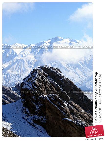 Черная скала среди белых гор, фото № 21837, снято 21 ноября 2006 г. (c) Валерий Шанин / Фотобанк Лори