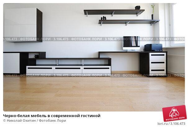 черно белая мебель в современной гостиной купить фото 3106473