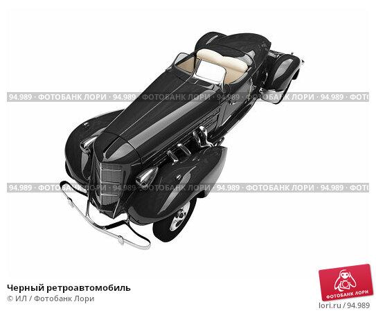 Черный ретроавтомобиль, иллюстрация № 94989 (c) ИЛ / Фотобанк Лори