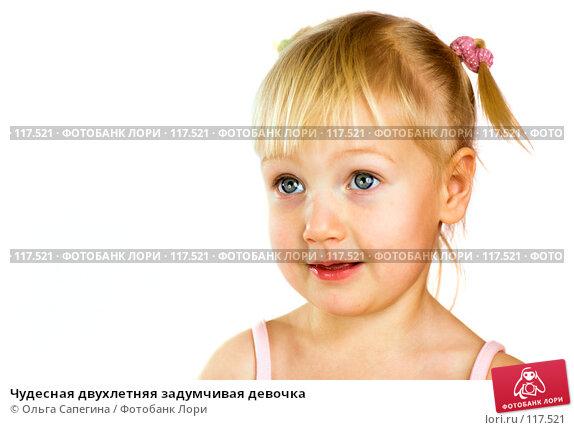Чудесная двухлетняя задумчивая девочка, фото № 117521, снято 1 ноября 2007 г. (c) Ольга Сапегина / Фотобанк Лори