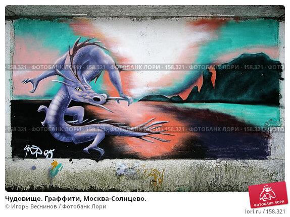 Купить «Чудовище. Граффити, Москва-Солнцево.», фото № 158321, снято 18 декабря 2007 г. (c) Игорь Веснинов / Фотобанк Лори