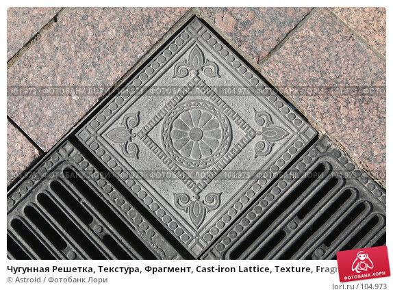 Чугунная Решетка, Текстура, Фрагмент, Cast-iron Lattice, Texture, Fragment, фото № 104973, снято 29 мая 2017 г. (c) Astroid / Фотобанк Лори