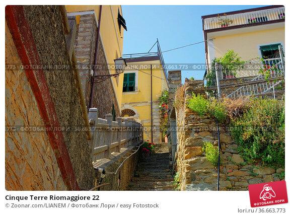 Cinque Terre Riomaggiore 22. Стоковое фото, фотограф Zoonar.com/LIANEM / easy Fotostock / Фотобанк Лори
