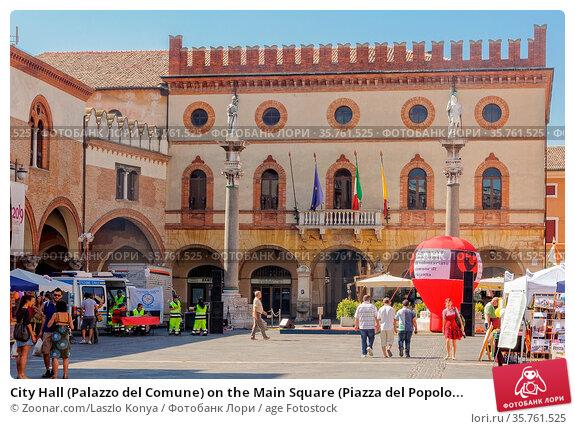 City Hall (Palazzo del Comune) on the Main Square (Piazza del Popolo... Стоковое фото, фотограф Zoonar.com/Laszlo Konya / age Fotostock / Фотобанк Лори