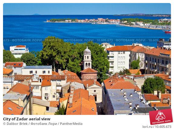 City of Zadar aerial view. Стоковое фото, фотограф Dalibor Brlek / PantherMedia / Фотобанк Лори
