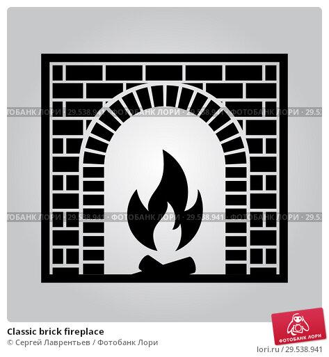 Купить «Classic brick fireplace», иллюстрация № 29538941 (c) Сергей Лаврентьев / Фотобанк Лори