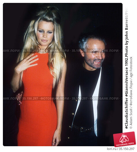 #ClaudiaSchiffer #GianniVersace 1992.Photo by John Barrett/PHOTOlink... Редакционное фото, фотограф Adam Scull / age Fotostock / Фотобанк Лори