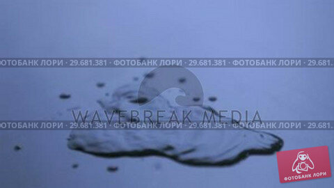 Купить «Clear drop of water in super slow motion falling», видеоролик № 29681381, снято 1 марта 2012 г. (c) Wavebreak Media / Фотобанк Лори