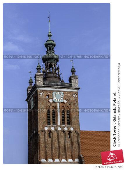Clock Tower, Gdansk, Poland. Стоковое фото, фотограф Fernando Barozza / PantherMedia / Фотобанк Лори