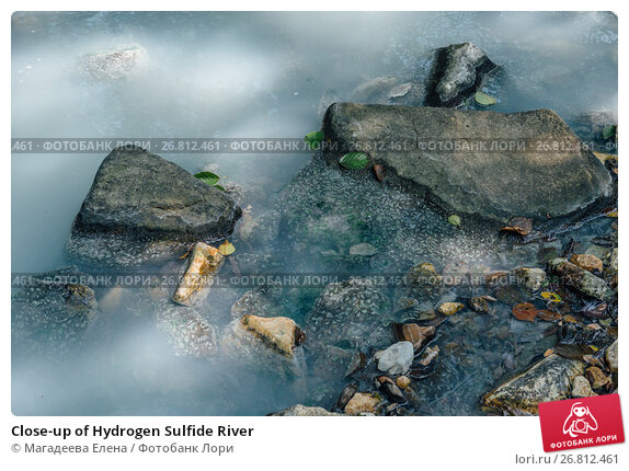 Купить «Close-up of Hydrogen Sulfide River», фото № 26812461, снято 18 марта 2018 г. (c) Магадеева Елена / Фотобанк Лори