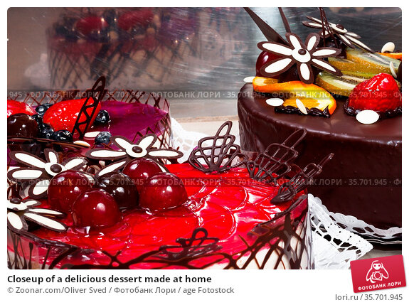 Closeup of a delicious dessert made at home. Стоковое фото, фотограф Zoonar.com/Oliver Sved / age Fotostock / Фотобанк Лори