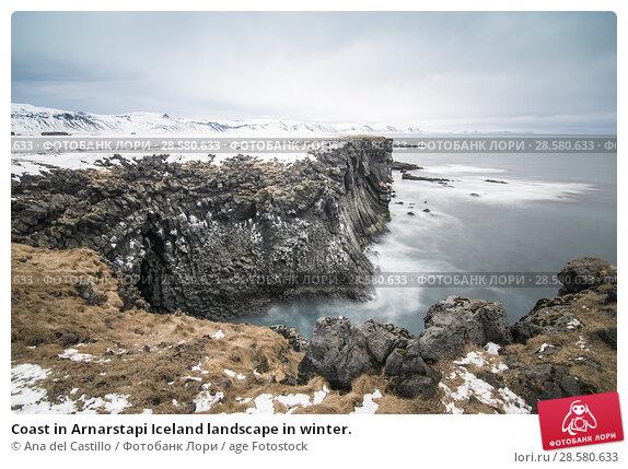 Купить «Coast in Arnarstapi Iceland landscape in winter.», фото № 28580633, снято 14 марта 2018 г. (c) age Fotostock / Фотобанк Лори
