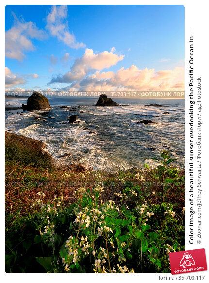 Color image of a beautiful sunset overlooking the Pacific Ocean in... Стоковое фото, фотограф Zoonar.com/Jeffrey Schwartz / age Fotostock / Фотобанк Лори