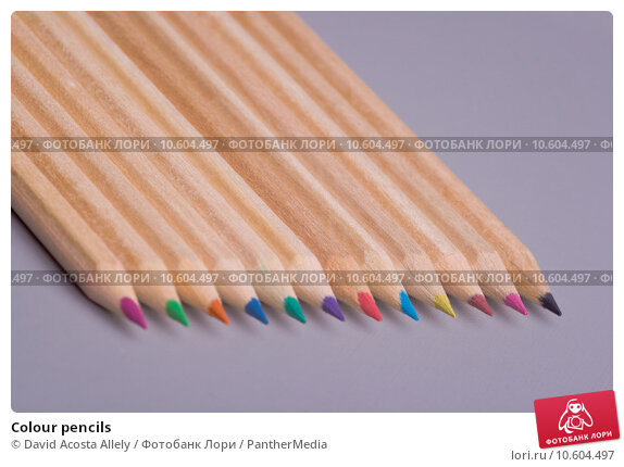 Colour pencils. Стоковое фото, фотограф David Acosta Allely / PantherMedia / Фотобанк Лори