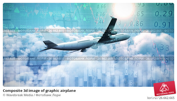 Composite 3d image of graphic airplane, фото № 26662665, снято 27 июля 2017 г. (c) Wavebreak Media / Фотобанк Лори