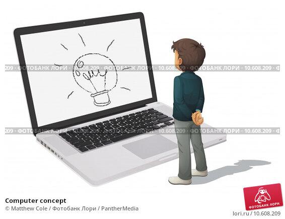 Computer concept. Стоковая иллюстрация, иллюстратор Matthew Cole / PantherMedia / Фотобанк Лори