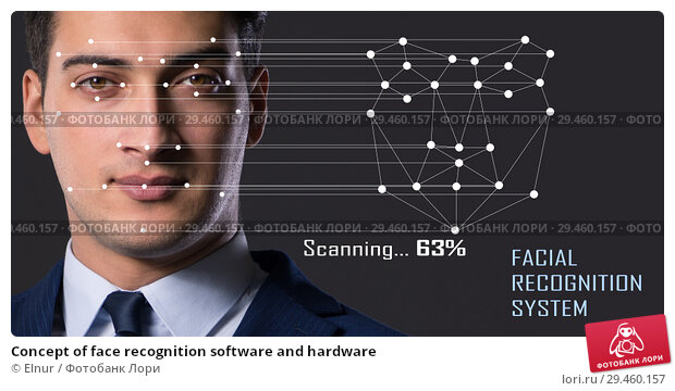 Купить «Concept of face recognition software and hardware», фото № 29460157, снято 11 июля 2019 г. (c) Elnur / Фотобанк Лори