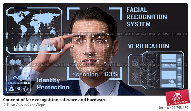 Купить «Concept of face recognition software and hardware», фото № 29745189, снято 19 апреля 2019 г. (c) Elnur / Фотобанк Лори
