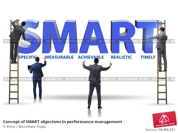 Concept of SMART objectives in performance management. Стоковое фото, фотограф Elnur / Фотобанк Лори