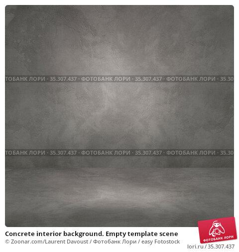 Concrete interior background. Empty template scene. Стоковое фото, фотограф Zoonar.com/Laurent Davoust / easy Fotostock / Фотобанк Лори