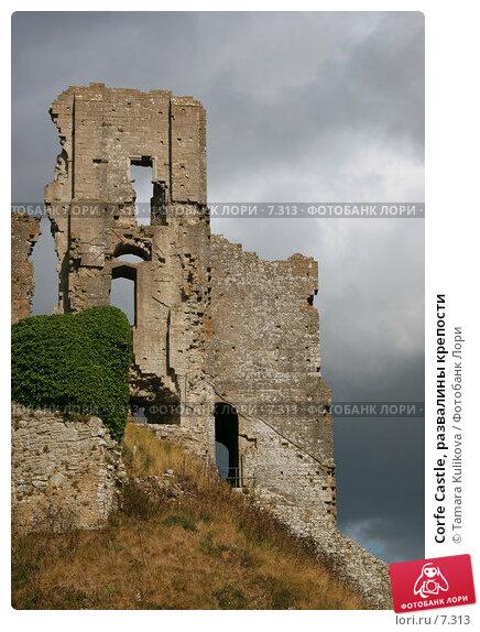 Corfe Castle, развалины крепости, фото № 7313, снято 10 августа 2006 г. (c) Tamara Kulikova / Фотобанк Лори