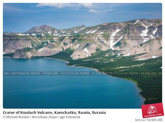 Купить «Crater of Ksudach Volcano, Kamchatka, Russia, Eurasia», фото № 14505305, снято 27 мая 2019 г. (c) age Fotostock / Фотобанк Лори