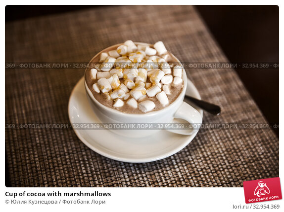 Cup of cocoa with marshmallows. Стоковое фото, фотограф Юлия Кузнецова / Фотобанк Лори