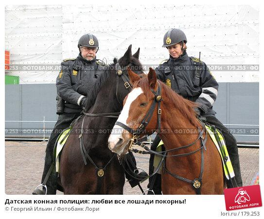 Датская конная полиция: любви все лошади покорны!, фото № 179253, снято 30 декабря 2007 г. (c) Георгий Ильин / Фотобанк Лори